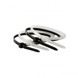 Coliere plastic 200 x 4,8 mm. (100 buc.) negre