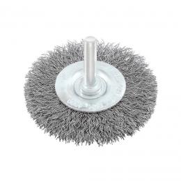 Perie circulara cu tija otel 75 mm.