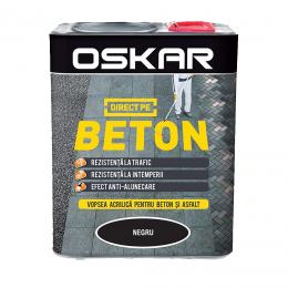 Vopsea Oskar Direct pe Beton Negru 0.75 L.