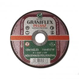 Disc debitat Inox 125X1X22.23 mm.