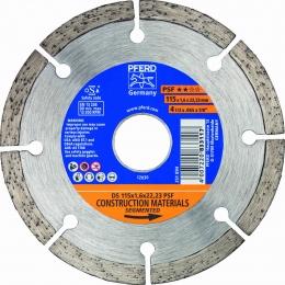 Disc diamantat discontinuu DS diametru 115X1.6 mm.
