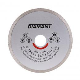 Disc diamantat continuu 125x22.2x2 mm.