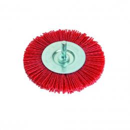 Perie circulara cu tija nylon 100 mm.