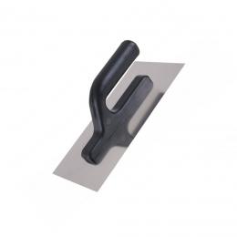 Gletiera inox 270 x 125 mm. cu maner din plastic plastic