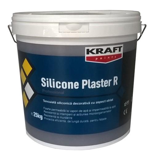 Tencuiala Decorativa Pret Mp.Kraft Tencuiala Decorativa Siliconica Alba Silicone Plaster R15 15