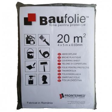 BAUFOLIE Folie protectie polietilena reciclata 4000X5000X0.03 T1 - 20 MP