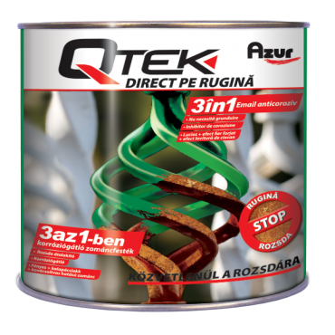 QTEK Direct Pe Rugina 3IN1 Alb Lucios 0.75L